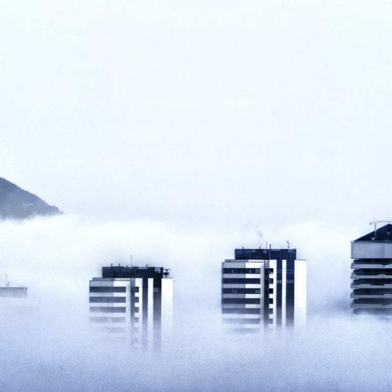 89 - Bilbao desde casa. Nieblas en Garellano